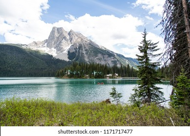 Columbia Shuswap A/British Columbia/Canada - Jun 02 2018: Third Partial View of Emerald Lake