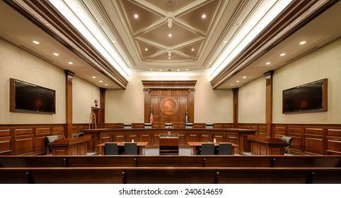COLUMBIA, SOUTH CAROLINA - DECEMBER 10: South Carolina Supreme Court chamber on December 10, 2014 in Columbia, South Carolina