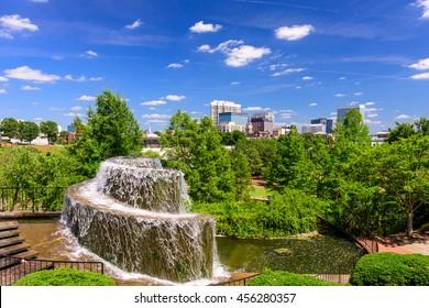 Columbia, South Carolina, USA at Finlay Park Fountain.