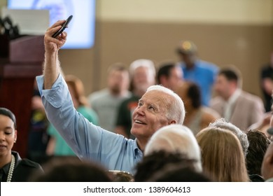 Columbia, South Carolina USA - May 4, 2019: United States 47th Vice President and 2020 presidential hopeful Joe Biden (D) greets potential voters after speaking during his campaign stop in Columbia.