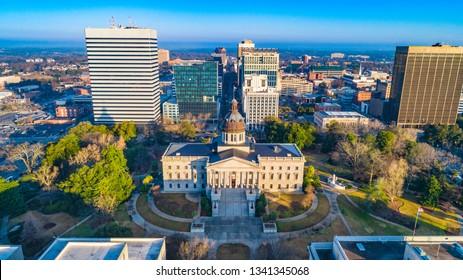 Columbia, South Carolina, USA State House Aerial