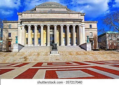 The Columbia University in New York City at blue sky
