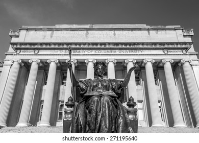 Columbia University of New York in winter