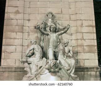 Columbus Circle statue in New York City.