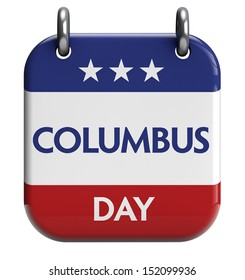 Columbus Day isolated calendar icon.