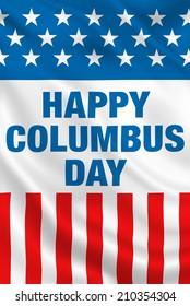 Columbus Day USA flag banner design.