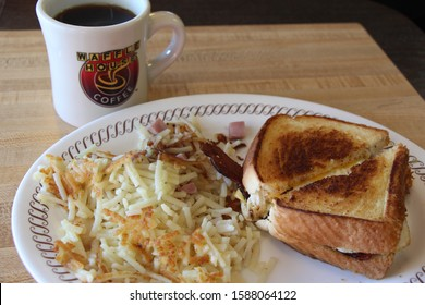COLUMBUS, GEORGIA/USA - 07-14-2017  Breakfast at Waffle House