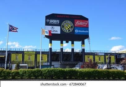 COLUMBUS, OH - JUNE 25: MAPFRE stadium in Columbus, Ohio is shown on June 25, 2017. It is the home stadium of theColumbus Crew SCofMajor League Soccer.