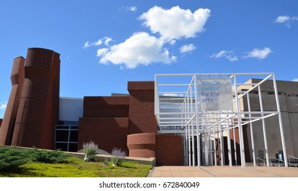 COLUMBUS, OH - JUNE 25: The Wexner Center for the Arts in Columbus, Ohio is shown on June 25, 2017. It was renovated in October 2005.