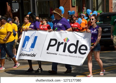 COLUMBUS, OH - JUNE 27,2017: Stonewall Columbus Pride Festival in Columbus, Ohio.  It is the second largest LGBTQ Pride festival in the Midwest.