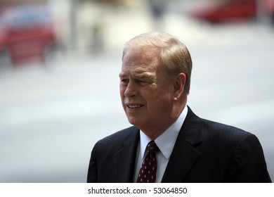 COLUMBUS, OH - MAY 13: Governor of Ohio, Ted Strickland outside of Ohio Statehouse May 13, 2010 in Columbus, OH.