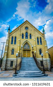 Columbus, OH / USA - 06-22-2014: Built in 1898, Saint John the Baptist Italian Catholic Church is listed on the National Register of Historic Places.