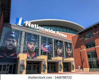 Columbus, Ohio - August 2, 2019: Nationwide Arena in Downtown Columbus