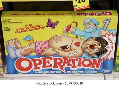 Columbus Ohio December 16, 2020 Hasbro Game of Operation.