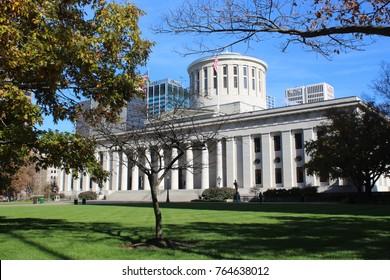 COLUMBUS OHIO - NOVEMBER 2017: Old Statehouse, Ohio State Capitol Building, Columbus Ohio in November 2017.