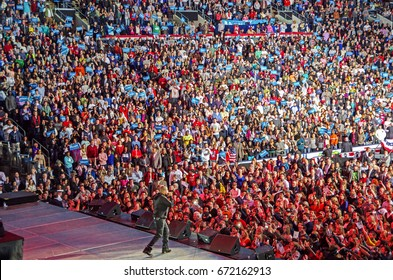 COLUMBUS, OHIO - November 5, 2012: Jay Z performing in front of a crowd in President Obama re-election campaign in Columbus, OH. Editorial Use Only.