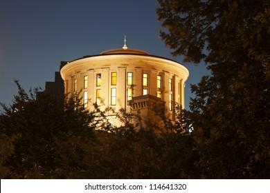 Columbus, Ohio - State Capitol Building at night