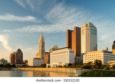 Columbus Ohio at sunset