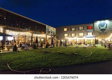 COLUMBUS, OHIO, USA - August 25, 2018: Brewdog scottish Craft Brewery at night.