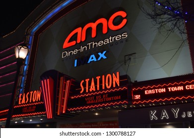 Columbus, Ohio/USA January 27,2019  AMC Theatres AMC IMAX movie theater owned by AMC Entertainment, Inc. IMAX theaters offer three dimensional movies at theaters around the world. - Image