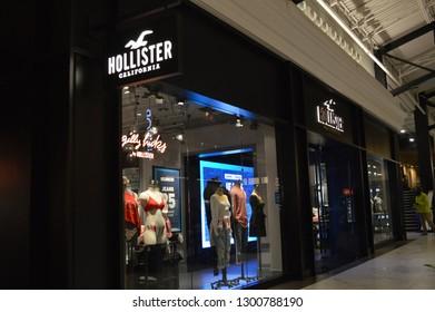 Columbus, Ohio/USA January 27,2019  Hollister clothing store.