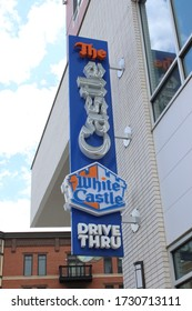 Columbus, Ohio-USA May 10, 2020 White Castle restuarant exterior. White Castle is a fast food restaurant chain and generally credited as the first fast food chain in the United States.