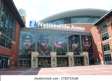 Columbus, Ohio-USA May 10, 2020 Nationwide Arena Sports and Entertainment venue.