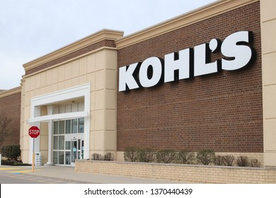 Columbus, OH/USA April 10,2019: Kohl's department store exterior. Kohl's Corporation is an American department store retail chain.