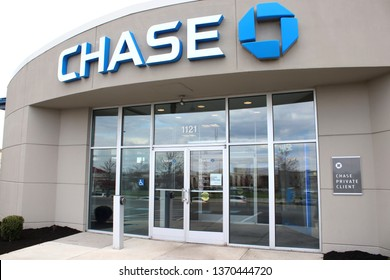 Columbus, OH/USA April10,2019: J.P. Morgan Chase Bank, N.A., doing business as Chase Bank, is a national bank headquartered in Manhattan, New York City.