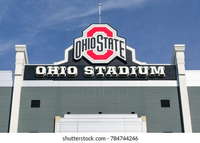 COLUMBUS, OH/USA - OCTOBER 21, 2017: Ohio Stadium on the campus of The Ohio State University.