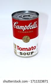 Columbus,Ohio-USA April 19, 2020 Campbells Tomato Soup.