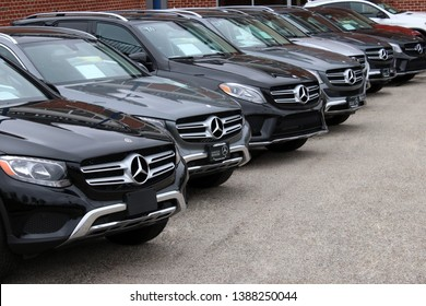 Columbus,Ohio/USA April 24, 2019: Mercedes-Benz is a German global automobile marque and a division of Daimler AG. The brand is known for luxury vehicles, buses, coaches, and trucks.