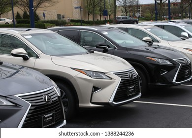 Columbus,Ohio/USA April 24, 2019: Pre-Owned Lexus Dealership. Lexus is the luxury vehicle division of the Japanese automaker Toyota.