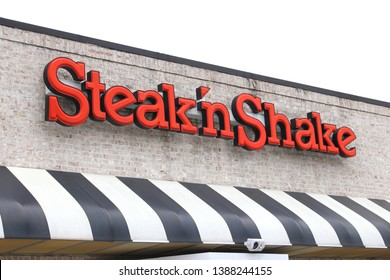 Columbus,Ohio/USA April 24, 2019: Steak 'n Shake is an American casual restaurant chain concentrated primarily in the Midwestern United States serving burgers, fries, malts and shakes.