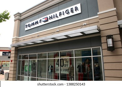 Columbus,Ohio/USA April 24, 2019: Tanger Outlets Tommy Hilfiger Store.