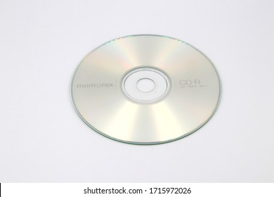 Columbus,Ohio-USA April 26, 2020 CD-R Popular for recording data, music, and images on to a disc for playback through an audio/video device.