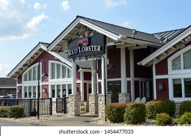 Columbus,Ohio-USA July 14,2019:Red Lobster Hospitality LLC is an American casual dining seafood restaurant chain headquartered in Orlando, Florida. The company has operations across the United States.