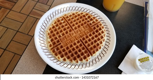 Columbus,Ohio-USA June 20,2019: Waffle House, Inc. is an American restaurant chain known for it's breakfast, with 2,100 locations in 25 states in the United States.