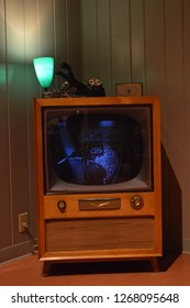 Columbus,Ohio/USA October 15,2015 : Vintage Television from the 50's era.