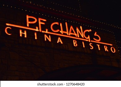 Columbus,OH/USA: December 22,2018 P.F. Chang's,P.F. Chang's offers a casual dining atmosphere to experience authentic Chinese food & Asian cuisine and has over 250 restaurants worldwide.