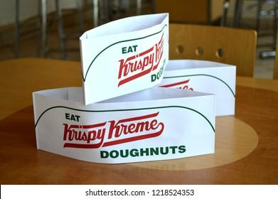 Columbus,OH/USA - July 24, 2017: Krispy Kreme Doughnuts is a global doughnut company and coffeehouse chain.