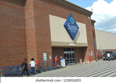 Columbus,OH/USA - July 24, 2017: Sam's Club exterior. Sam's Club is an American chain of membership-only retail warehouse clubs owned and operated by Walmart.