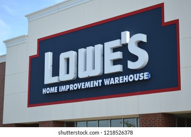 Columbus,OH/USA - July 24,2017: Lowe's Home Improvement Warehouse exterior. Lowe's is an American chain of retail home improvement stores in the United States, Canada, and Mexico.