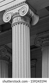 column as part of the architecture and a symbol of support