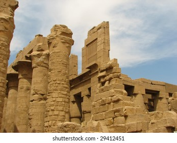 columns in the ancient temple. Luxor. Egypt