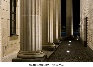 Columns of the Brandenburg Gate close-up. Berlin. Germany.