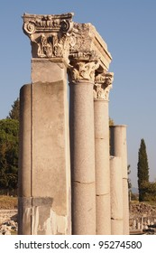 Columns with Corinthian capitals, Ephesus, Turkey