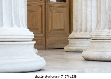 columns in entrance of athens