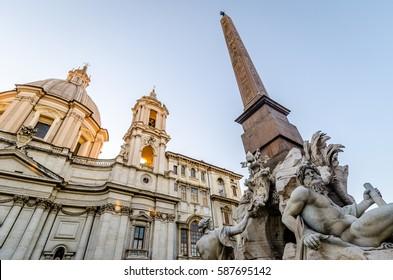 Columns inside the forum Romanum