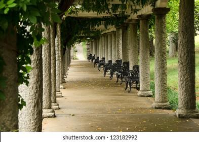 Columns and Ivy in Maymont Gardens, Richmond, Virginia